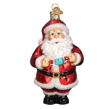 Santa Revealed Glass Ornament