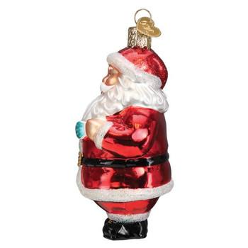 Santa Revealed Glass Ornament side