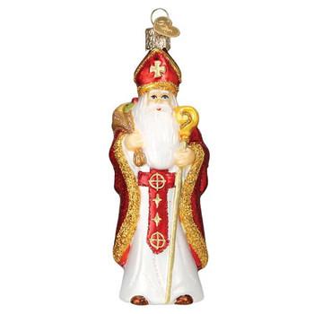 St. Nicholas Glass Ornament