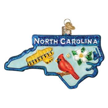 North Carolina Glass Ornament