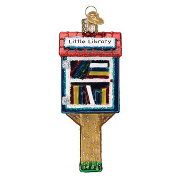 Little Library Glass Ornament