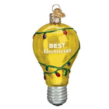 Best Electrician Glass Ornament