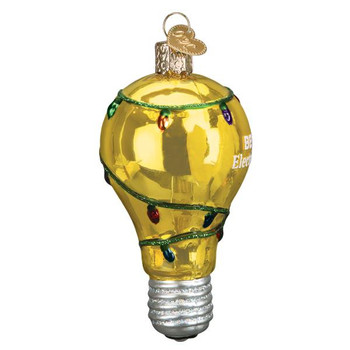 Best Electrician Glass Ornament side