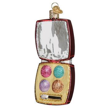 Makeup Palette Glass Ornament