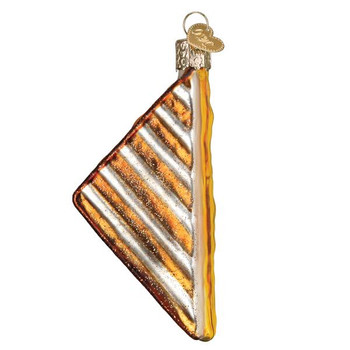 Grilled Cheese Sandwich Glass Ornament