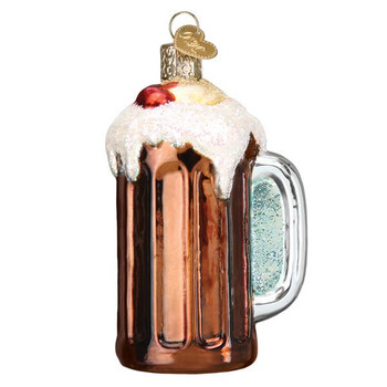 Root Beer Float Glass Ornament