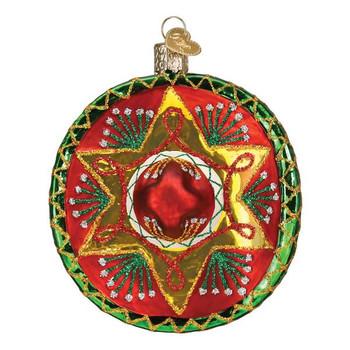 Sombrero Glass Ornament