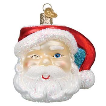 Santa Mug Glass Ornament