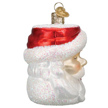 Santa Mug Glass Ornament side