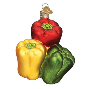 Bell Peppers Glass Ornament