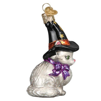 Witch Kitten Glass Ornament side