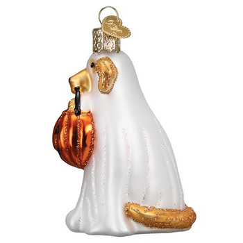 Trick-Or-Treat Pooch Glass Ornament side