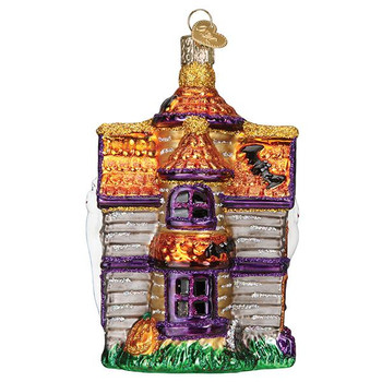 Haunted House Glass Ornament side