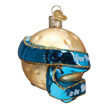 Moon & Back Love You Glass Ornament side