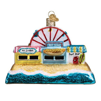 Beachscape Glass Ornament