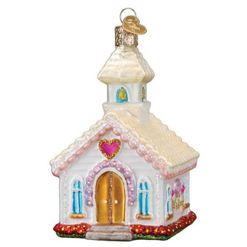 Wedding Chapel Glass Ornament