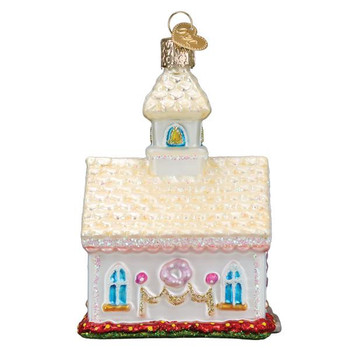 Wedding Chapel Glass Ornament side