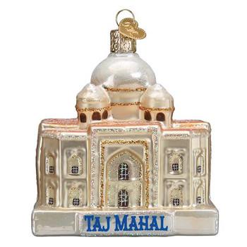 Taj Mahal Glass Ornament