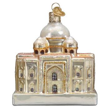 Taj Mahal Glass Ornament back
