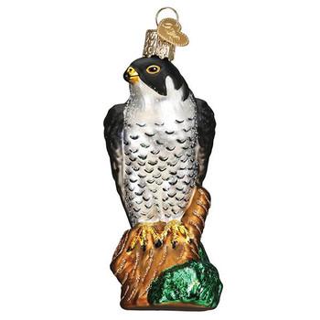 Peregrine Falcon Glass Ornament