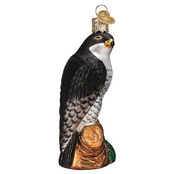 Peregrine Falcon Glass Ornament side