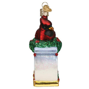 Memorial Cardinal Glass Ornament side
