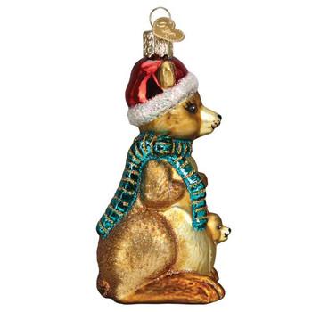 Christmas Kangaroo Glass Ornament right side