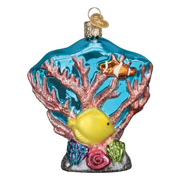 Coral Reef Glass Ornament