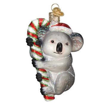Christmas Koala Glass Ornament