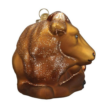 Ox Glass Ornament front