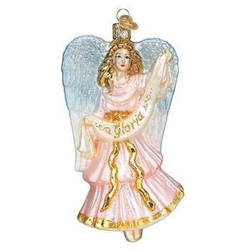 Nativity Angel Glass Ornament
