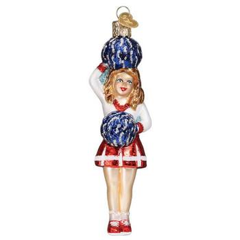 Cheerleader Glass Ornament