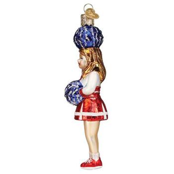 Cheerleader Glass Ornament left side