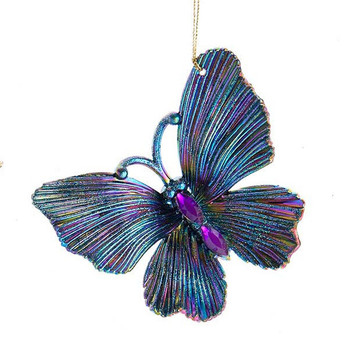 Peacock Colors Butterfly Ornament