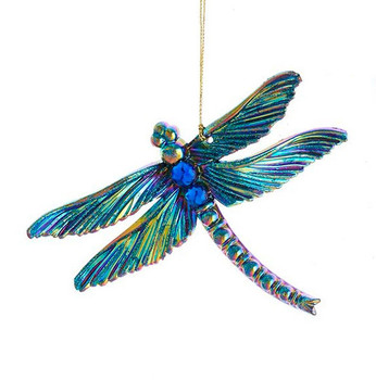 Peacock Colors Dragonfly Ornament