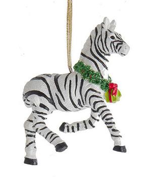 Holiday Safari Animal Zebra Ornament