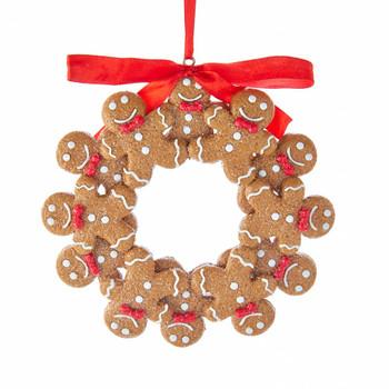 Gingerbread Boy Wreath Ornament