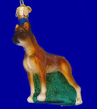 Boxer Old World Christmas Glass Ornament 12304