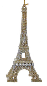 Mostly Silver Eiffel Tower Ornament