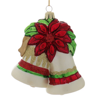 Traditional Christmas Bells Glass Ornament
