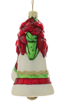 Traditional Christmas Bells Glass Ornament Side