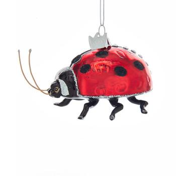 Ladybug Glass Ornament