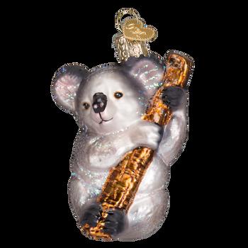 Koala Bear Glass Ornament