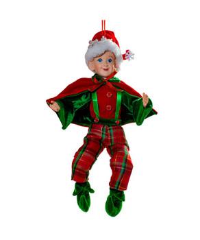 Kringle Klaus Plaid Pants Elf Ornament