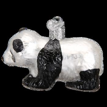 Panda Cub Glass Ornament left side