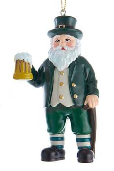 Santa of Ireland with Beer Mug Ornament