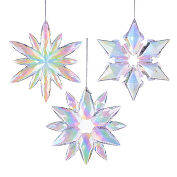 Iridescent Clear Acrylic Snowflake Ornament
