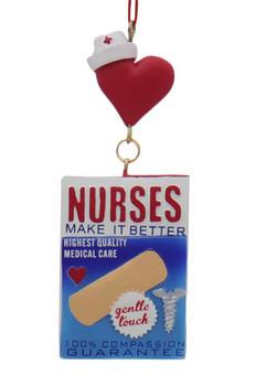 Nurses Box of Band-Aids Ornament