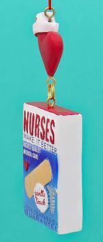 Nurses Box of Band-Aids Ornament Left side