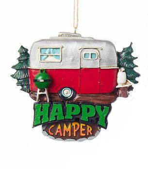 Happy Camper Trailer Sign Ornament